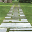 Stepping stones within lawn