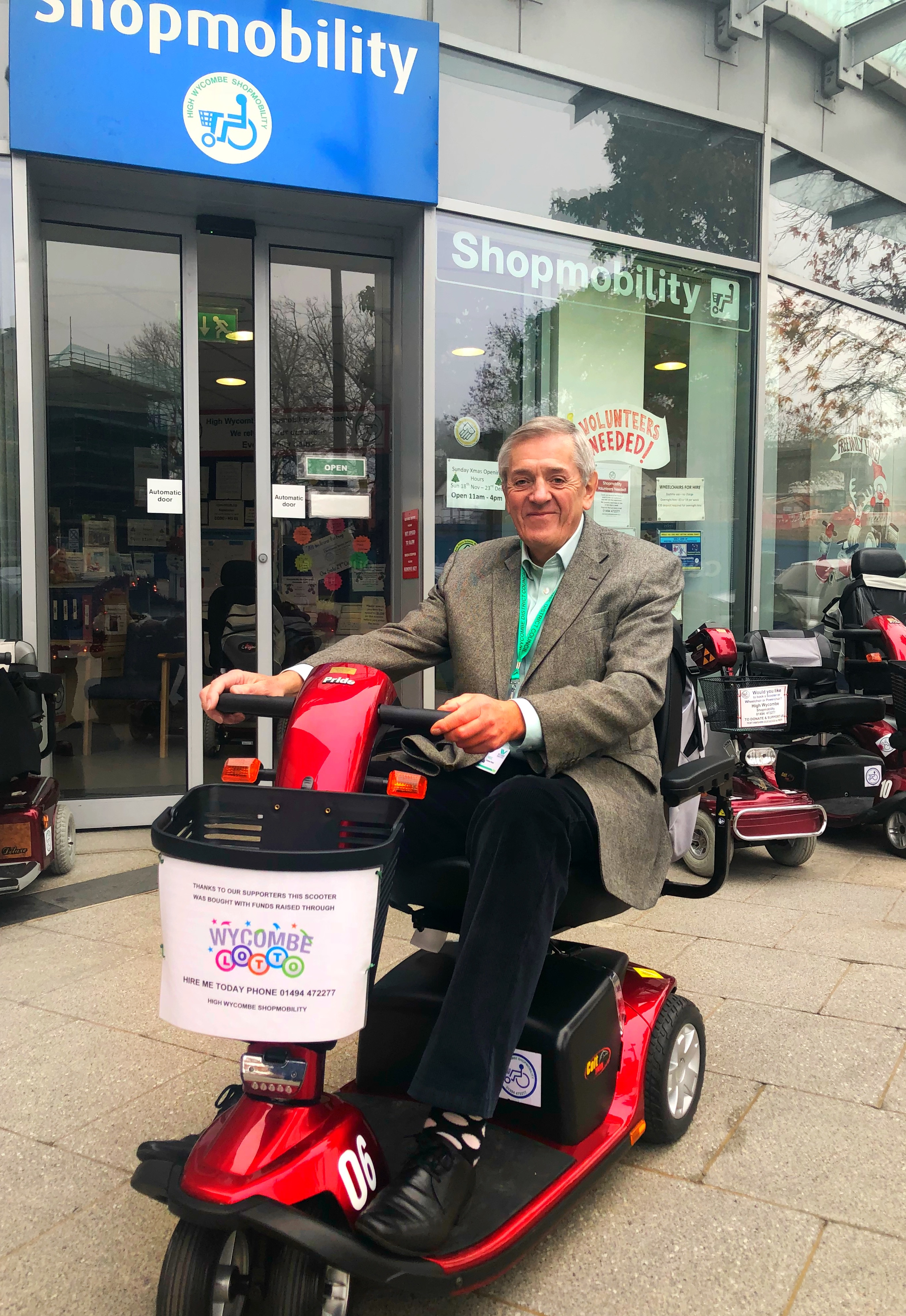 Wycombe Lotto Shopmobility Cllr Peart