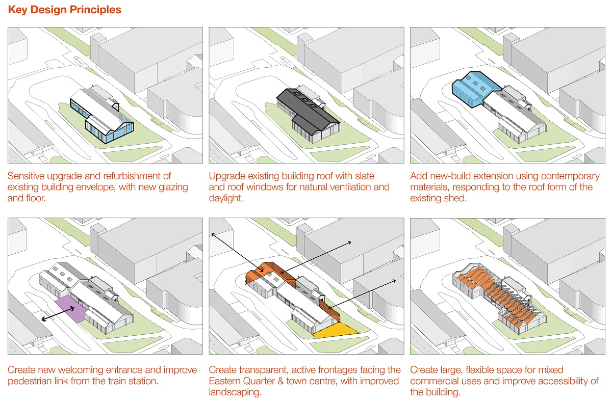 Key design principles for the Brunel engine shed improvements
