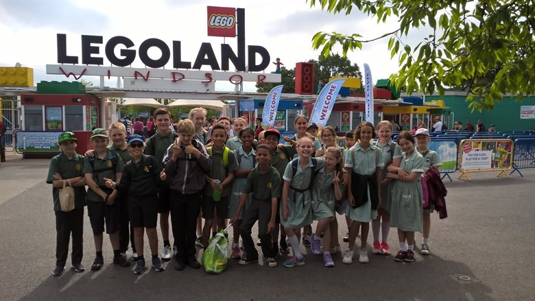 Pupils from St Peters Catholic Primary School enjoy a day out at Legoland