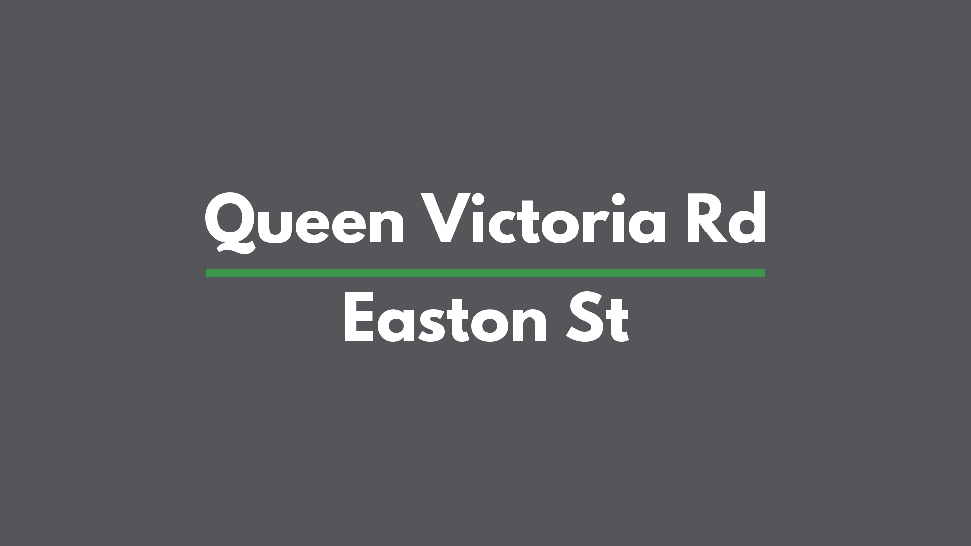 Queen Vic _ Easton St - Two way text