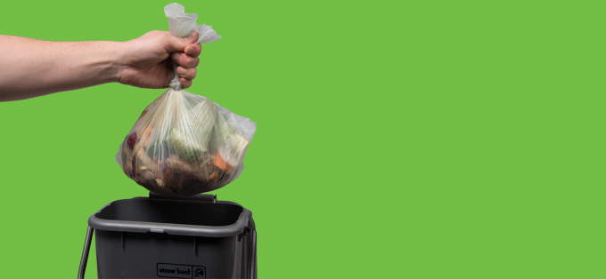 Food waste caddy liners