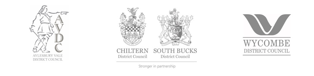 Four district council logos together
