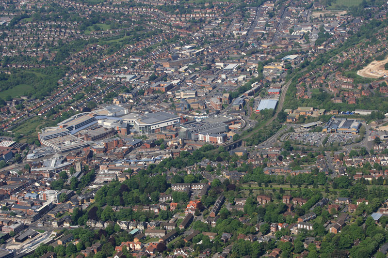 high-wycombe-town-centre-aerial