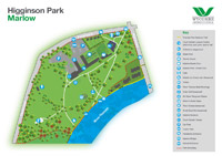 Download a PDF map of Higginson Park