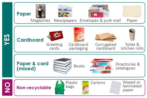 Paper and cardboard: what we collect